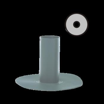 Notüberlauf mit PVC-Manschette, rund  Notüberlauf rund