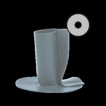 Wasserspeier mit derSondermanschette, rund, beheizbar  Wasserspeier rund, beheizbar