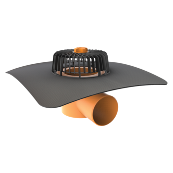 Dachgully mit der Sondermanschette, horizontaler