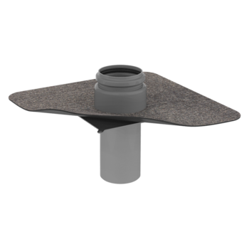 Wasserspeier mit Bitumen-Manschette, rund, ohne Rohrleitung  Bitumen-Manschette