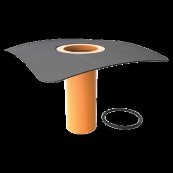 Aufstockelement für Dachgullys mit der Sondermanschette  Sondermanschette