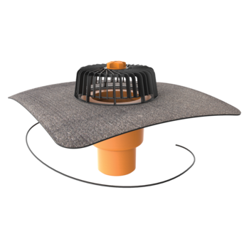Dachgully mit Bitumen-Manschette, senkrechter, beheizbar  senkrechter, beheizbar