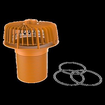 Aufstockelement für Notüberlauf auf der Dachfläche