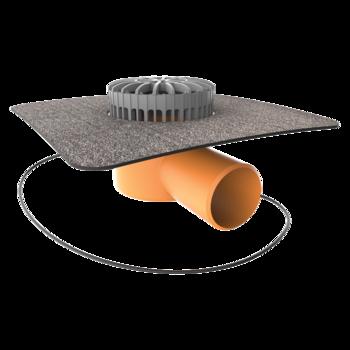 Dachgully mit PVC-Manschette, senkrechter, beheizbar  senkrechter, beheizbar