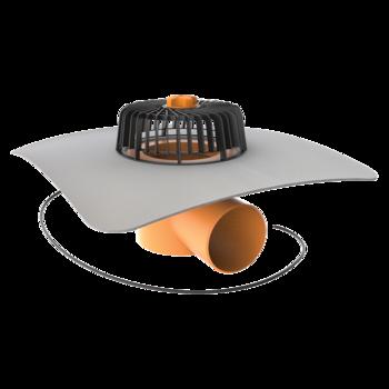 Dachgully mit PVC-Manschette, horizontaler, beheizbar  horizontaler, beheizbar