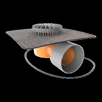 Terrassengully mit Bitumen-Manschette, horizontaler, beheizbar  horizontaler, beheizbar