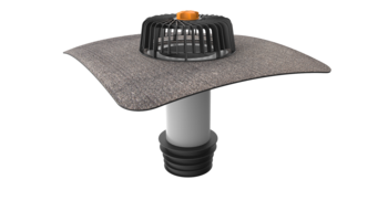 Terrassengully mit PVC-Manschette, horizontaler  horizontaler