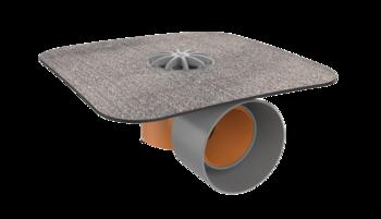 Sanierungsgully für Dächer ohne Wärmedämmung mit Bitumen-Manschette  für Dächer ohne Wärmedämmung
