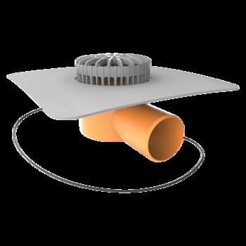 Dachgully mit der Sondermanschette, horizontaler  horizontaler