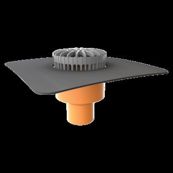 Dachgully mit der Sondermanschette, horizontaler, beheizbar  horizontaler, beheizbar