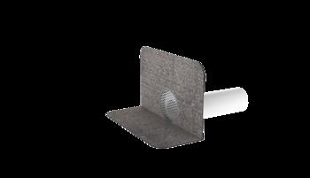Kanalisationsentlüftung XL zum Anschluss an die Entlüftungsleitung mit Bitumen-Manschette  Kanalisationsentlüftung XL