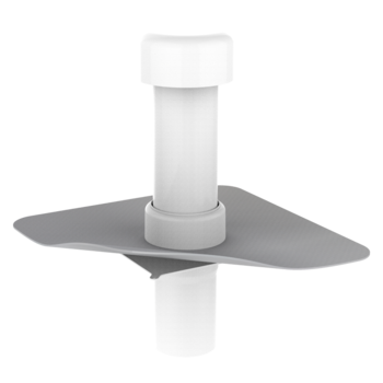 Kanalisationsentlüftung zum Anschluss an die Entlüftungsleitung mit PVC-Manschette  Kanalisationsentlüftung