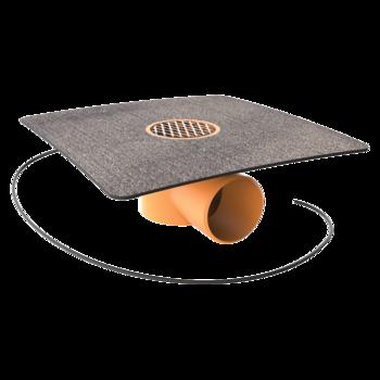 Dampfsperre-Durchführung mit PVC-Manschette  Dampfsperre-Durchführung
