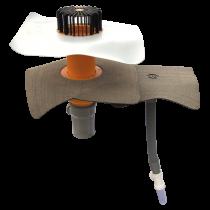 Kanalisationsentlüftung zum Anschluss an die Entlüftungsleitung mit der Sondermanschette  Kanalisationsentlüftung