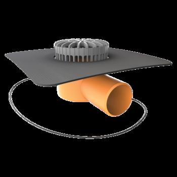 Aufstockelement für Dachgully mit der Sondermanschette  Sondermanschette