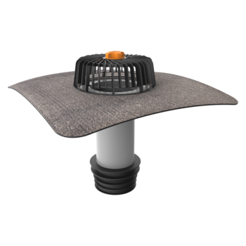 Terrassengully mit PVC-Manschette, senkrechter, beheizbar  senkrechter, beheizbar
