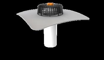Einwandiger Dachgully für Dachflächen ohne Wärmedämmschicht mit PVC-Manschette
