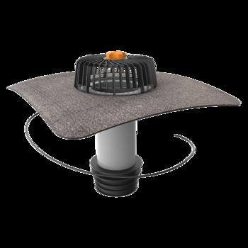 Sanierungsgully mit Bitumen-Manschette, beheizbar  senkrechter, beheizbar