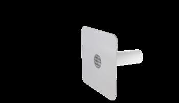 Notüberlauf mit PVC-Manschette, rund