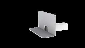Wasserspeier mit PVC-Manschette, kastenförmig