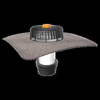 Terrassengully mit PVC-Manschette, horizontaler, beheizbar  horizontaler, beheizbar