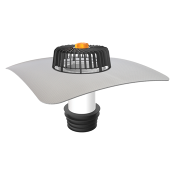Terrassengully mit der Sondermanschette, horizontaler, beheizbar  horizontaler, beheizbar