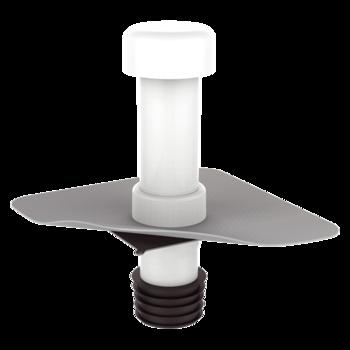Sanierungsentlüftung mit PVC-Manschette  Sanierungsentlüftung