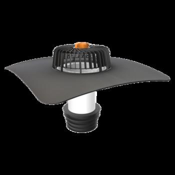 Sanierungsgully für Dachflächen ohneWärmedämmschicht mit der Sondermanschette  für  Dachflächen ohne Wärmedämmschicht