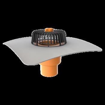 Dachgully mit PVC-Manschette, senkrechter  senkrechter