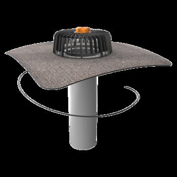 Einwandiger Dachgully mit Bitumen-Manschette, beheizbar