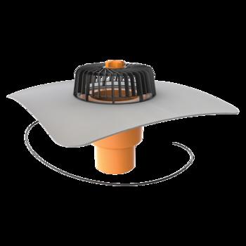 Dachgully mit PVC-Manschette, senkrechter, beheizbar