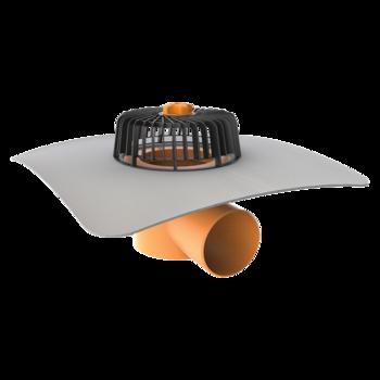 Dachgully mit PVC-Manschette, horizontaler  horizontaler