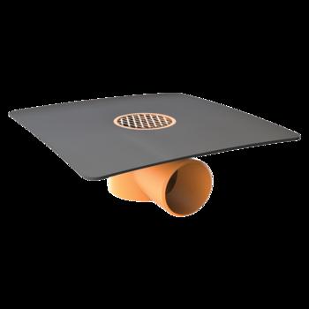 Einwandiger Dachgully mit PVC-Manschette  einwandiger Dachgully