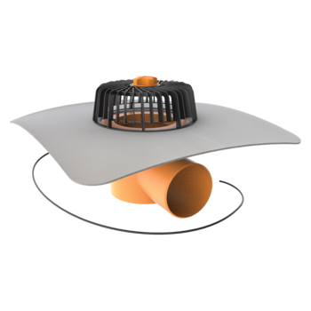 Dachgully mit PVC-Manschette, horizontaler, beheizbar
