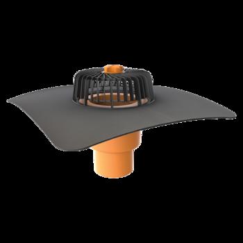 Dachgully mit der Sondermanschette, senkrechter