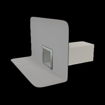 Bodenablauf für Balkons mit integrierter Manschette, horizontaler  horizontaler