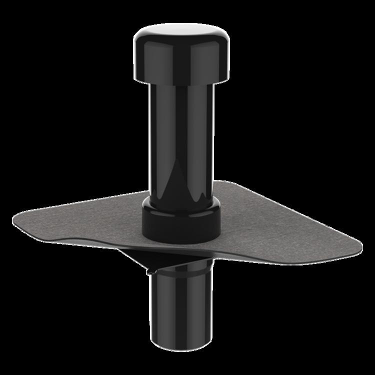 Kanalisationsentlüftung mit Bitumen-Manschette