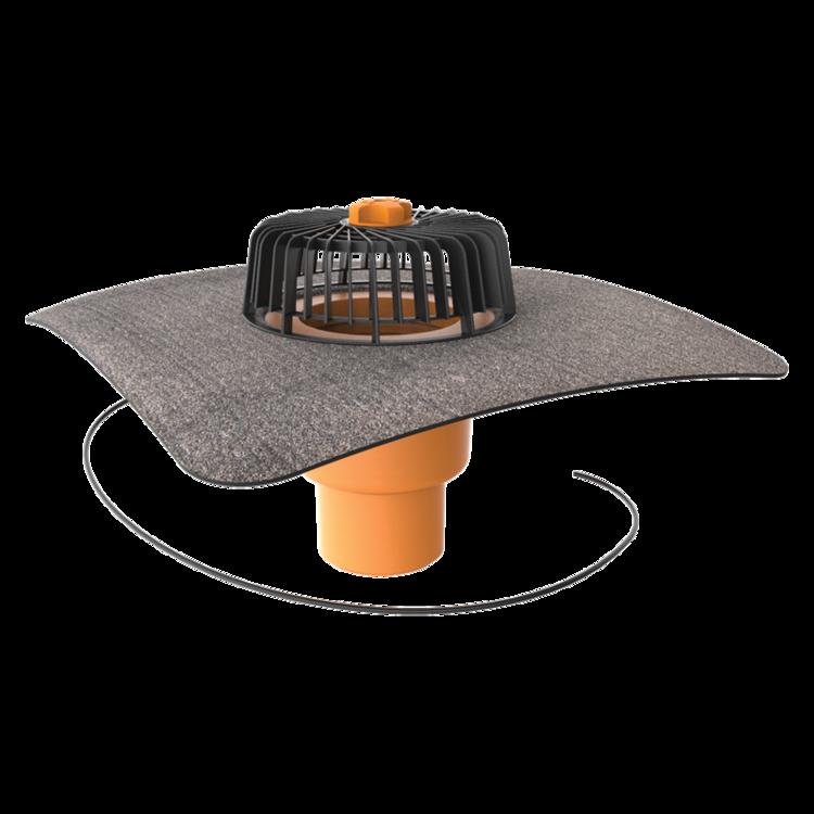 Dachgully mit Bitumen-Manschette, senkrechter, beheizbar