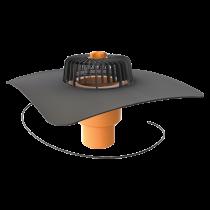 Dachgully mit der Sondermanschette, senkrechter, beheizbar