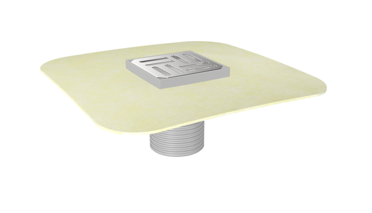 Balkonaufsatz mit Spachtelabdichtung