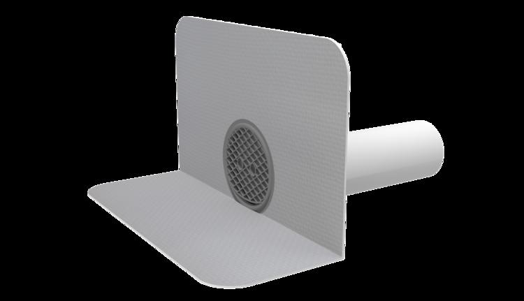 Wasserspeier mit PVC-Manschette, rund