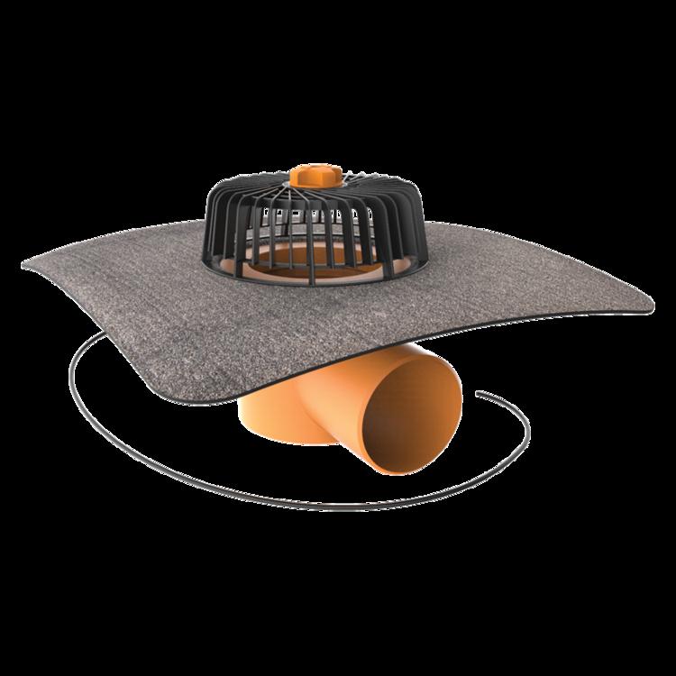 Dachgully mit Bitumen-Manschette, horizontaler, beheizbar