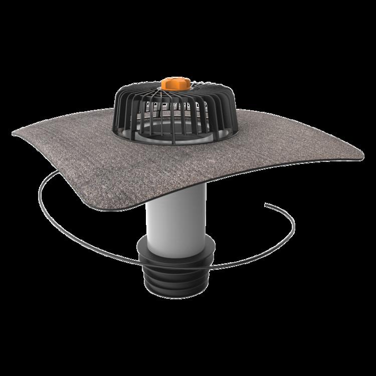 Sanierungsgully mit Bitumen-Manschette, beheizbar
