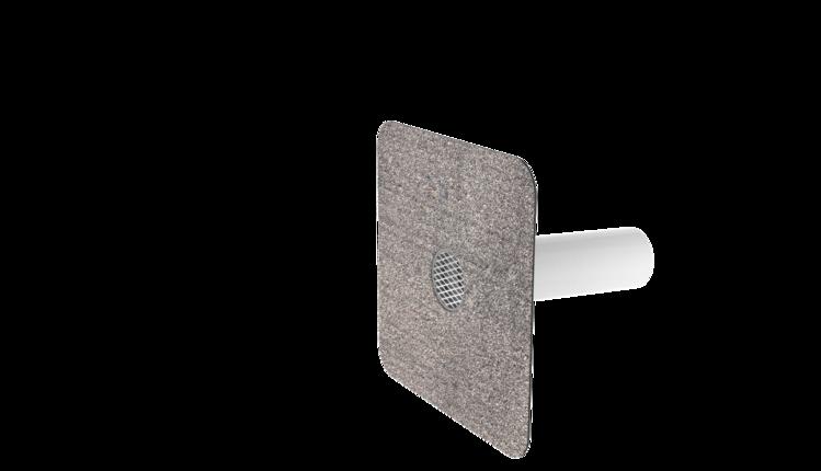 Notüberlauf mit Bitumen-Manschette, rund