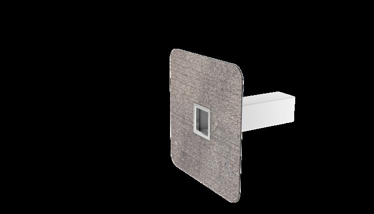 Notüberlauf mit Bitumen-Manschette, kastenförmig