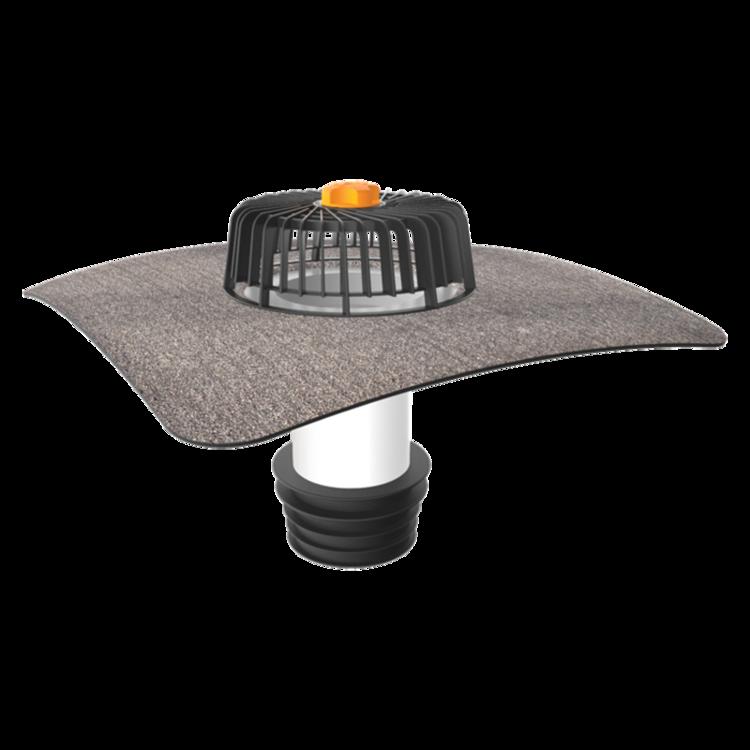 Sanierungsgully für Dachflächen ohne Wärmedämmschicht mit Bitumen-Manschette