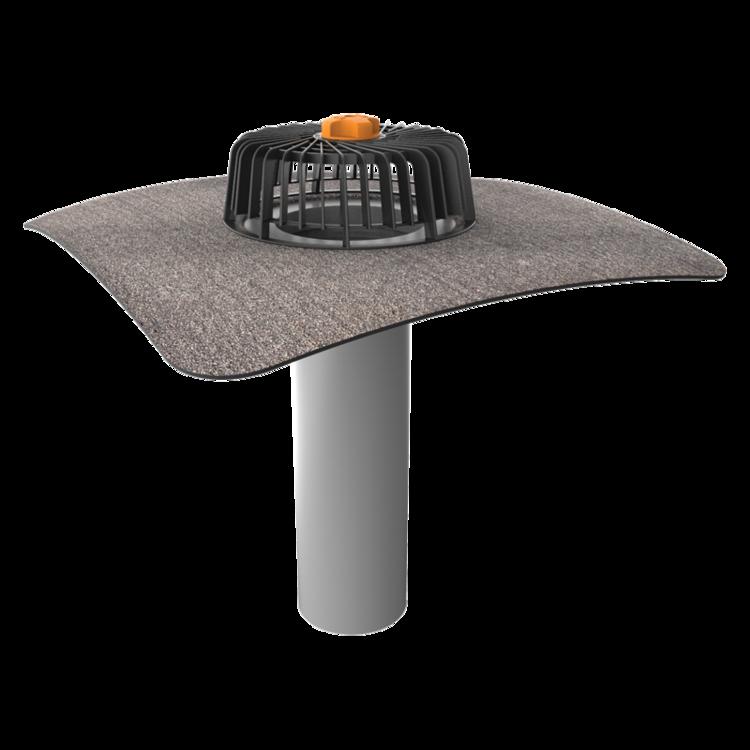 Einwandiger Dachgully mit Bitumen-Manschette