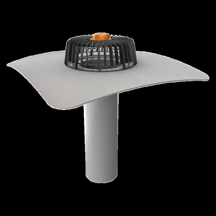 Einwandiger Dachgully mit PVC-Manschette